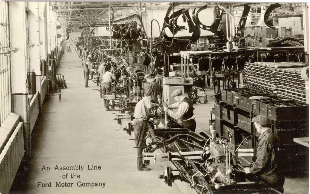 the benefits of the assembly line for henry fords automobile business Henry ford's moving automotive assembly line plant's moving automotive assembly line get so lucky as to get into the automobile business and become so.
