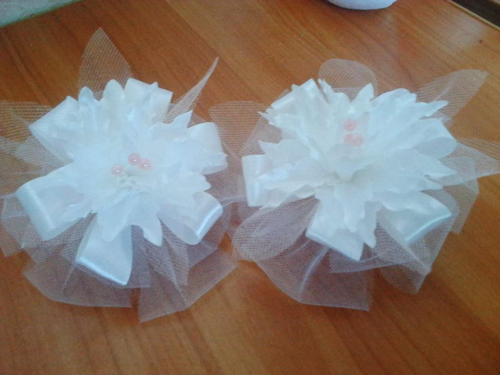 Банты для девочек белые своими руками