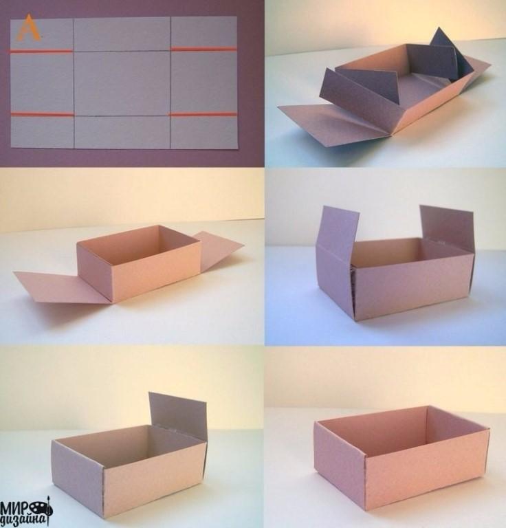 Как сделать картонную коробку