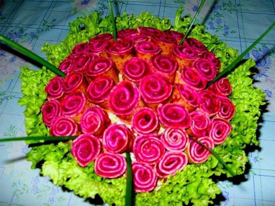 Фото салатов из роз