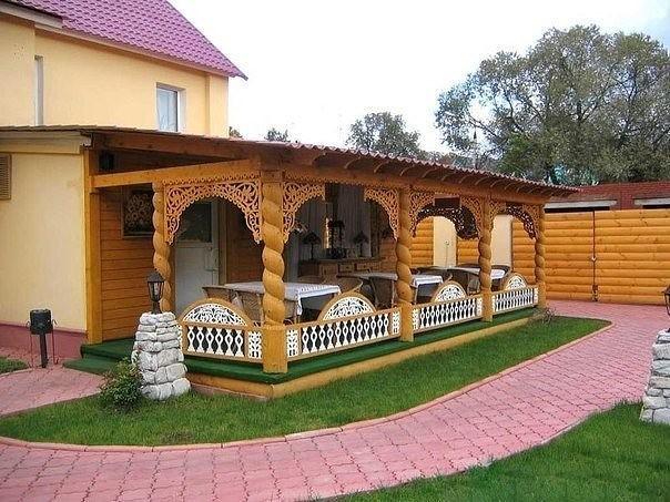 Дизайн веранды в частном доме своими руками фото