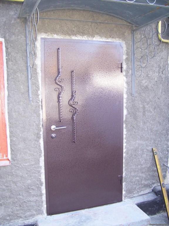 Как сделать железную дверь в