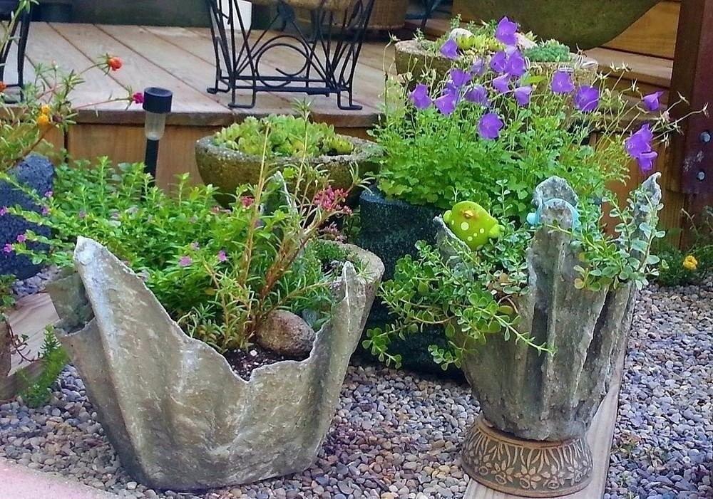 Кашпо из цемента для сада своими руками пошагово