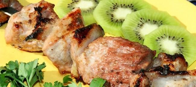 Шашлык с киви  пошаговый рецепт с фото на Поварру