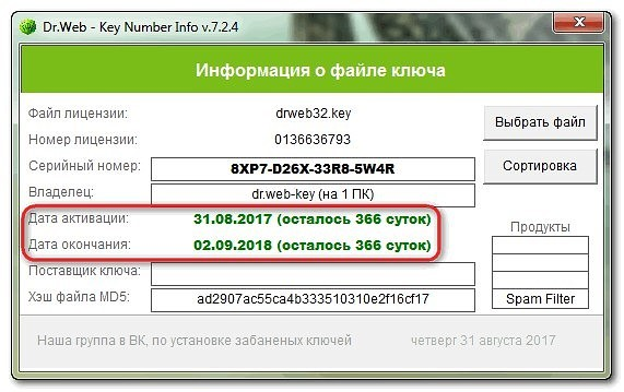 лицензионный ключ др веб для sony xperia c 2005