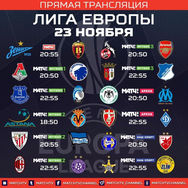 Европы лиги результатов прогноз матчей