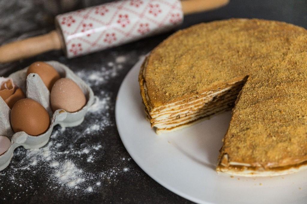 Лёгкий и быстрый рецепт очень вкусного тортика.