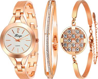 Изысканные брендовые женские часы  Xinge в наборе с браслетами для тех, кто ценит эксклюзивные вещи