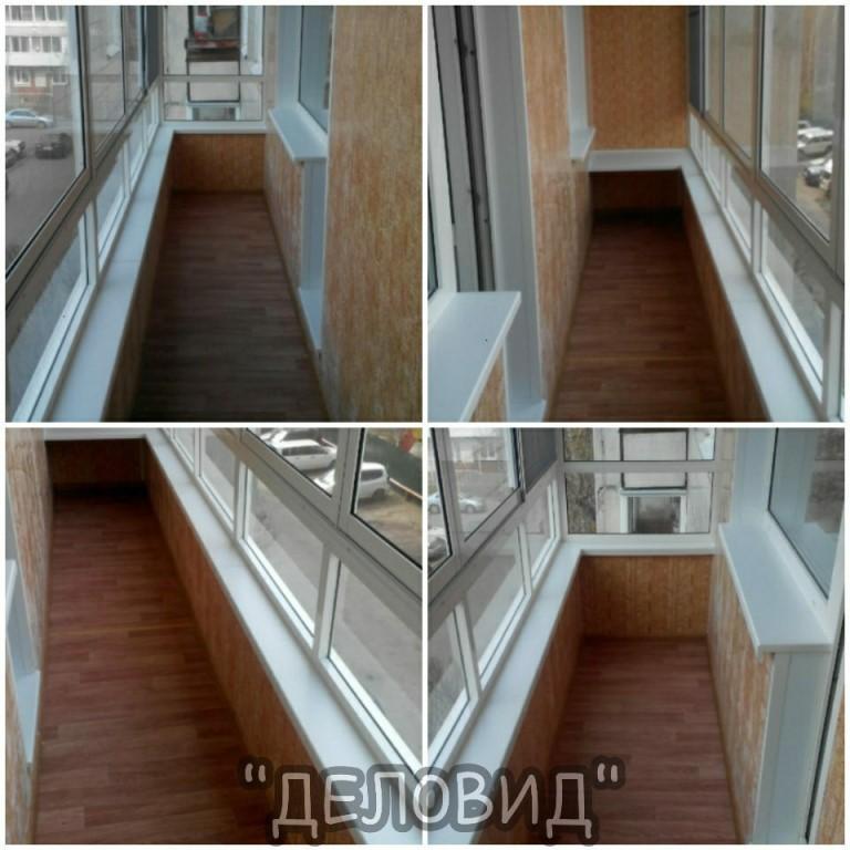 Внутренняя отделка балкона или лоджии.