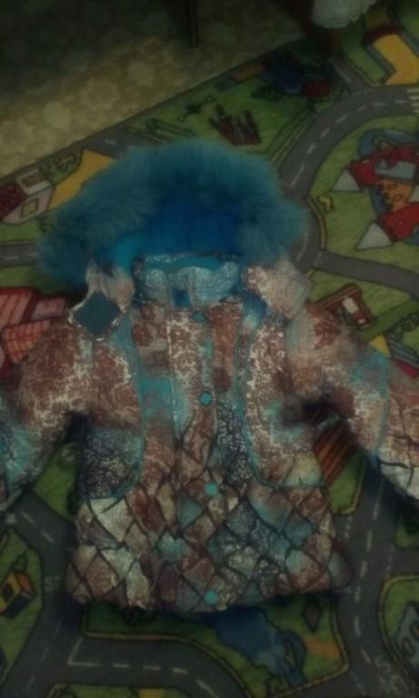 Продам зимний костюм на девочку три годика состояние отличное
