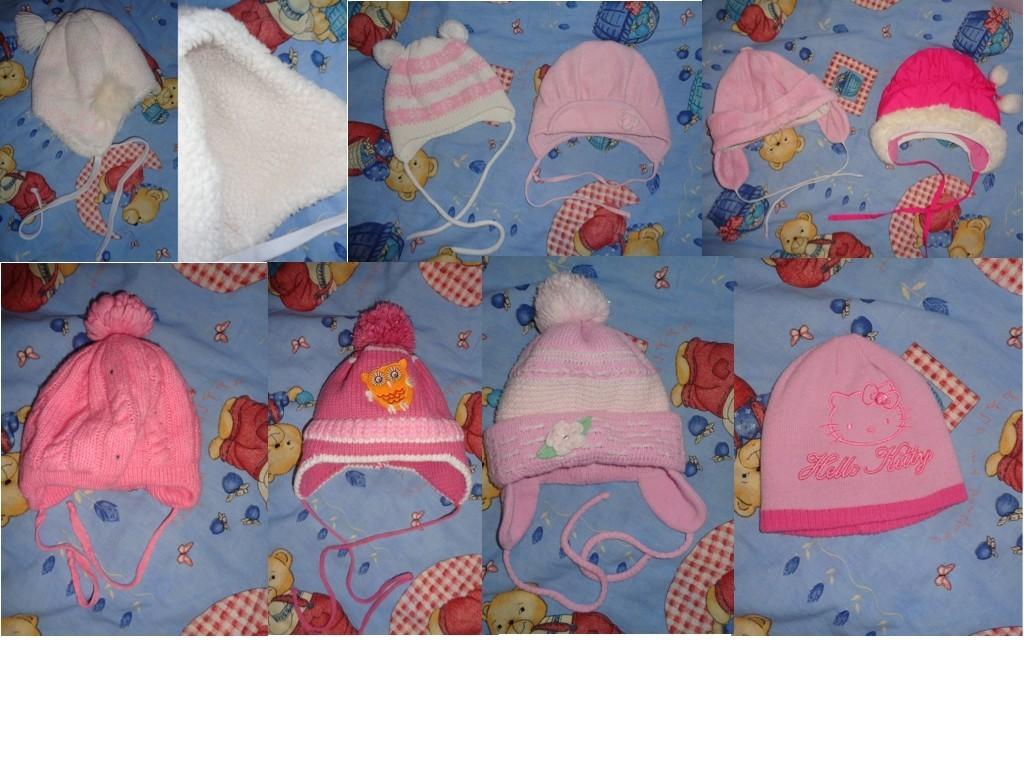 пакет шапок с рождения до 3 лет