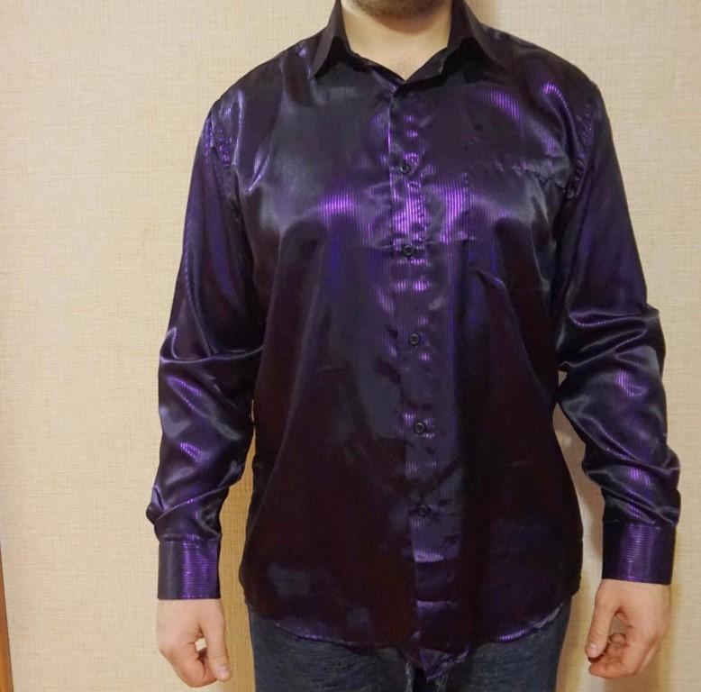 Мужская рубашка (была надета один раз на выступление)